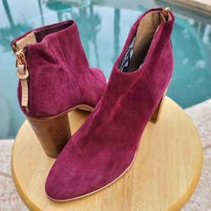 Ted Baker Lorca 2 Raspberry Suede Ankle Boots 41 9